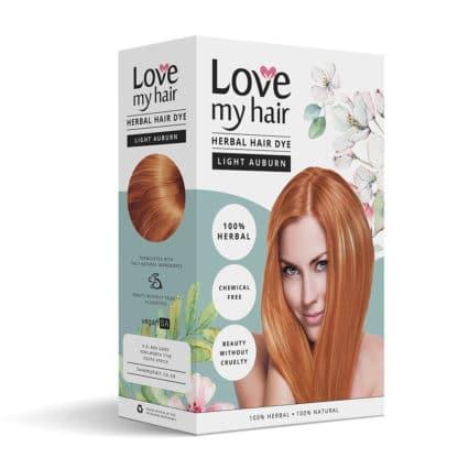 herbal hair dye light auburn image