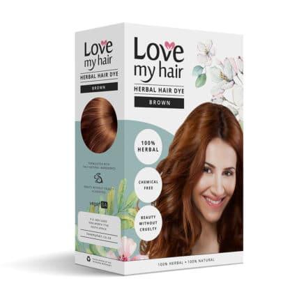 Herbal hair dye brown image