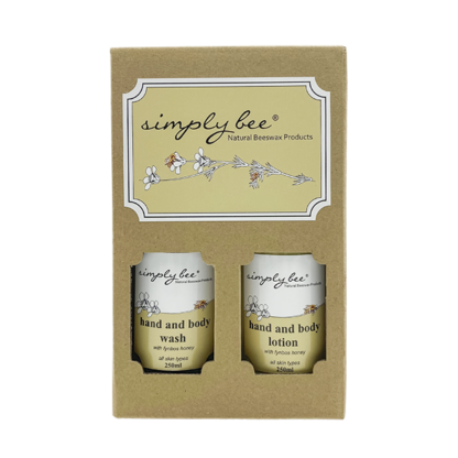 simply bee hand and body lotion and wash gift